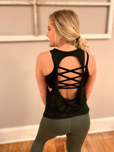 Twist Back Active Tank