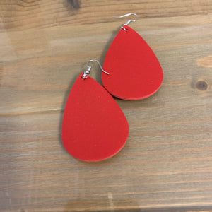 Red-Teardrop earring