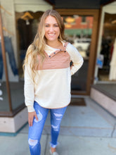 Load image into Gallery viewer, Cream and Blush Pullover