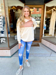 Cream and Blush Pullover