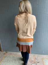 Load image into Gallery viewer, Grey/Rust stripe cardigan