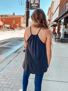 Black V Neck Cami