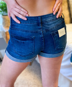 Dark Blue Cuffed Short