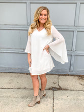 Load image into Gallery viewer, White Bell Sleeve Dress