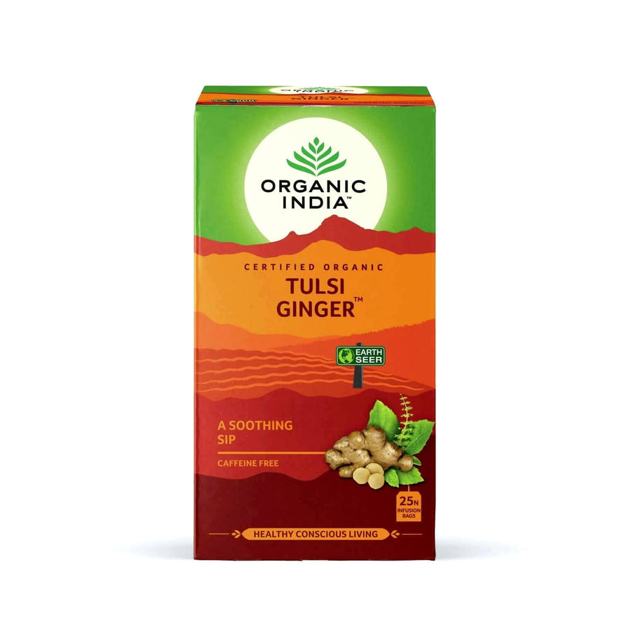 Tulsi Ginger 25 Tea Bags - Organic India
