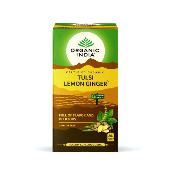 Tulsi Lemon Ginger 25 Tea Bags - Organic India