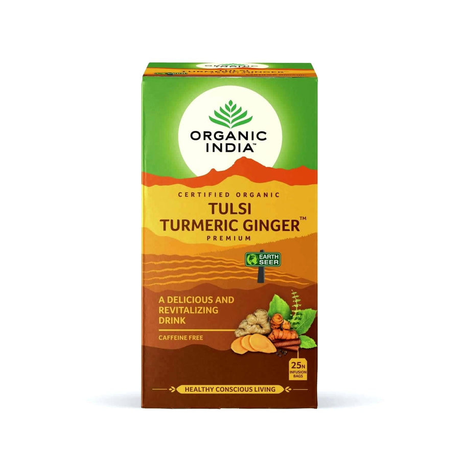 Tulsi  Turmeric Ginger 25 Tea Bags - Organic India