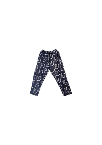 Trousers- Indigo and white Stick face