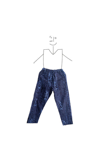 Trousers- Indigo and light blue kowa lines