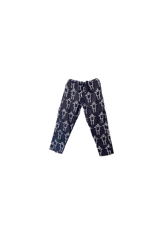 Trousers- Indigo and white Kowa Stickman
