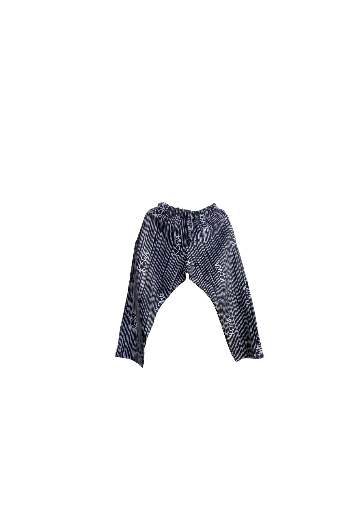 Trousers- Indigo and white kowa lines