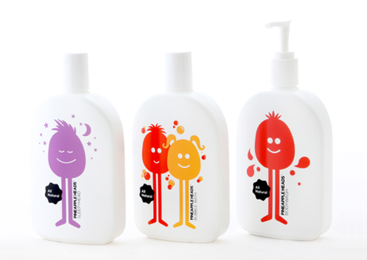 The Pineapple Heads bath range