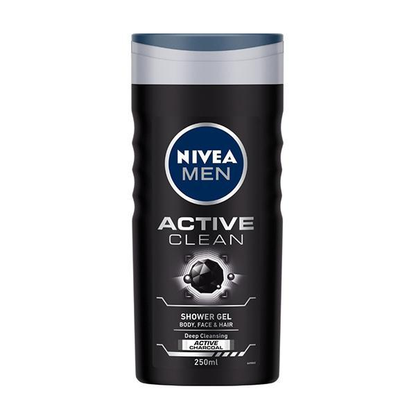Nivea Men Active Clean Deep Cleansing Active Charcoal - Shower Gel, 250ml