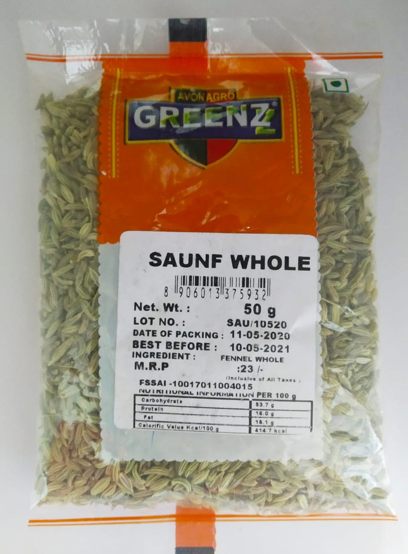 Greenz Saunf Whole, 50g