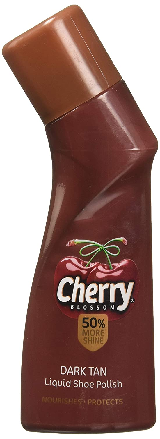 Cherry Blossom Dark Tan Liquid Shoe Polish, 75ml