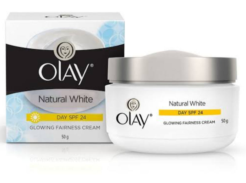 Olay Natural White Glowing Fairness  Cream (DAY SPF 24), 50 g