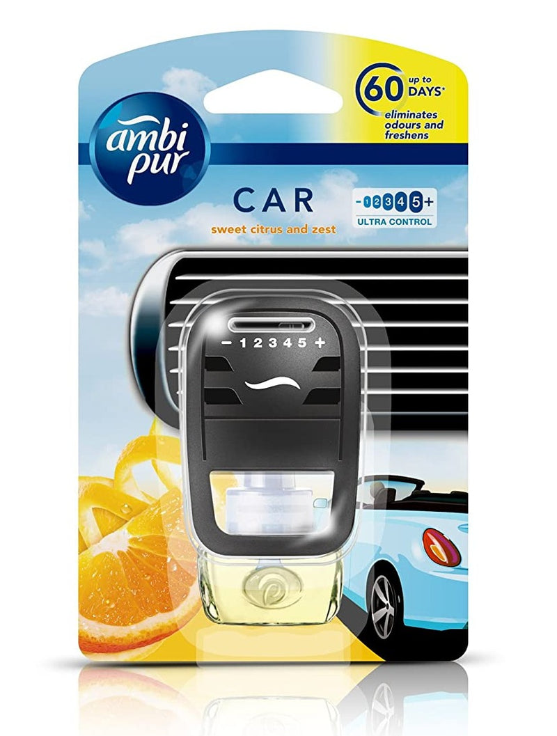 Ambi Pur Sweet Citrus And Zest Car Starter Kit