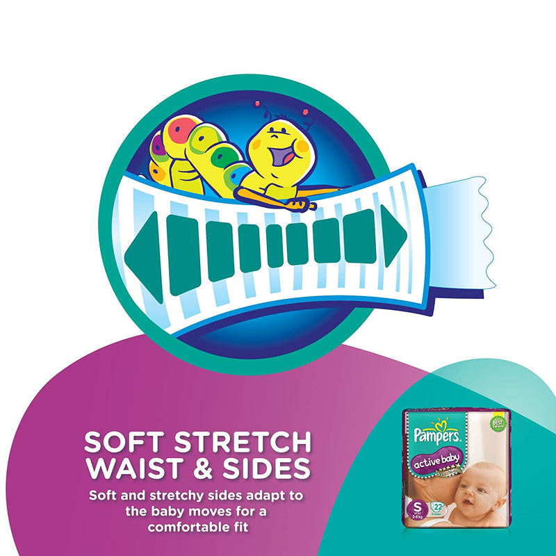 Pampers Active Baby Medium Size Diapers (Pack of 90)