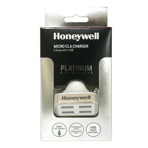 Honeywell Platinum Series Micro CLA 6.8A Car Charger (White) HC000005/CHG/CLA/WHT/6.8A/4U