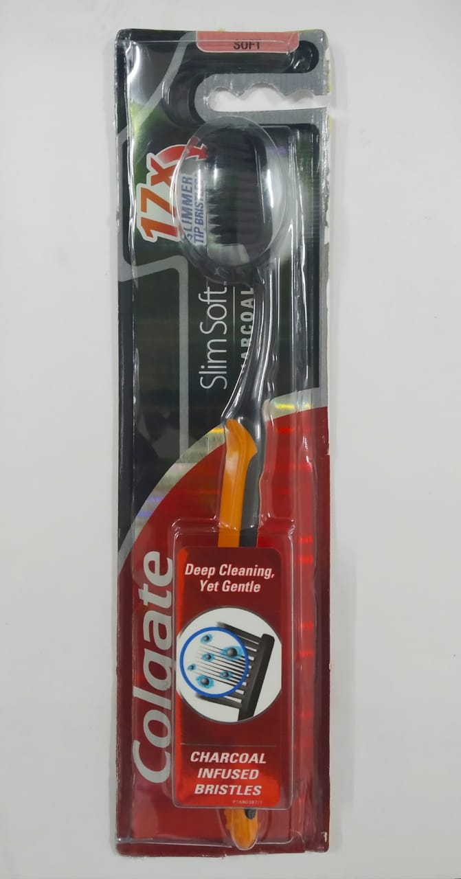 Colgate Charcoal infused bristles Toothbrush (Soft), 1 Nos