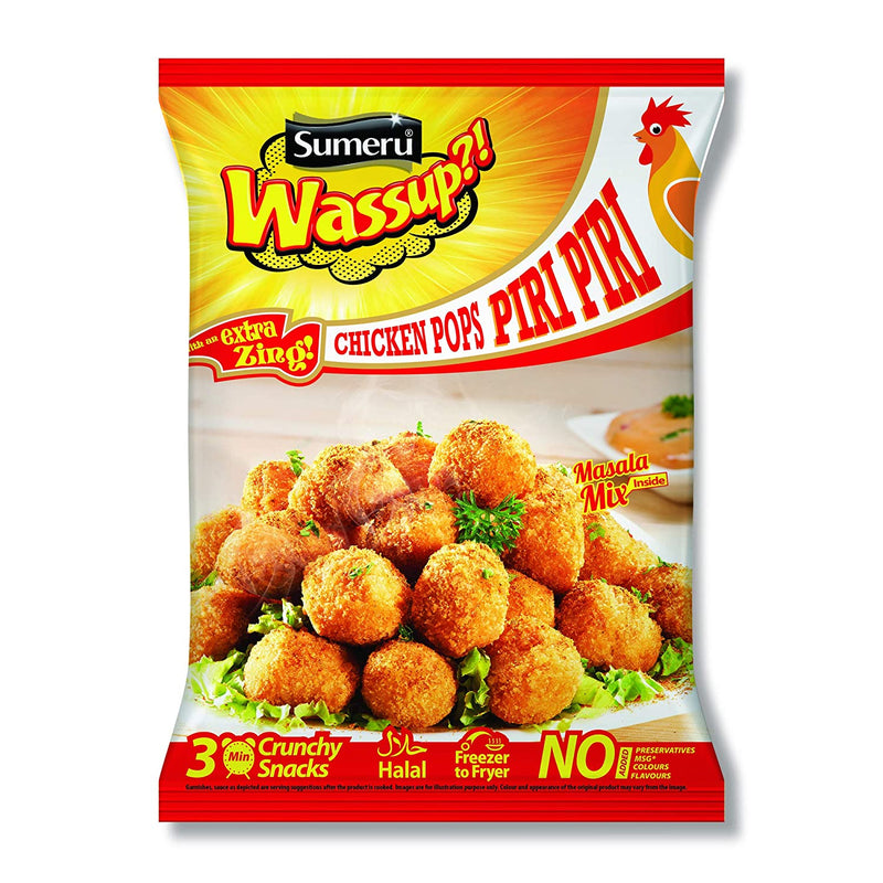 Sumeru Wassup Chicken Pops Piri Piri (With An Extra Zing), 450g