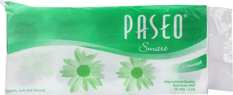 Paseo Smart 2 Ply Toilet Tissue Paper (10 Rolls), Buy 1 Get 1 Free
