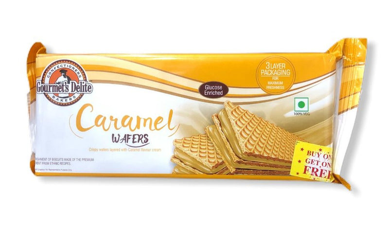 Gourmet's Delite Caramel Wafers, 150g BUY ONE GET ONE FREE