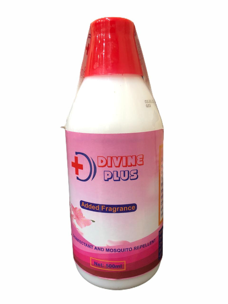 Divine Plus Added Fragrance, Disinfectant & Mosquito Repellent. 500 ml