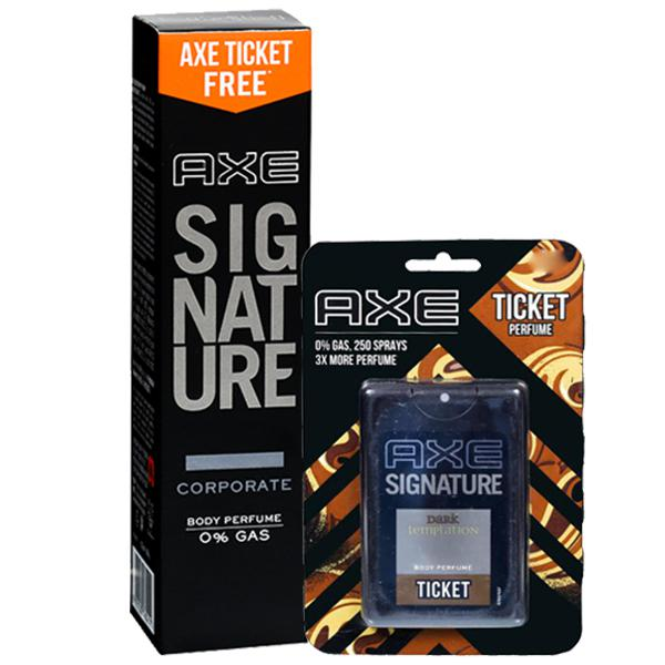 Axe Signature Corporate Body Perfume, 122ml + FREE AXE TICKET