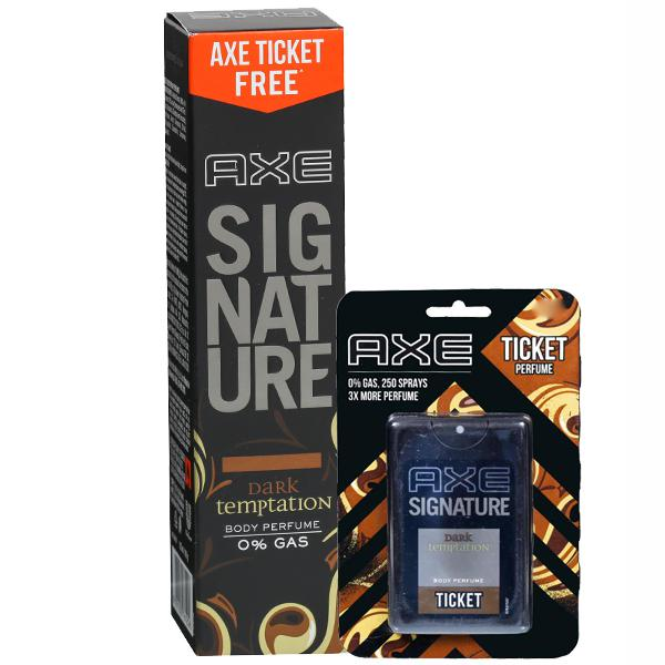 Axe Signature Dark Temptation Body Perfume, 122ml + FREE AXE TICKET