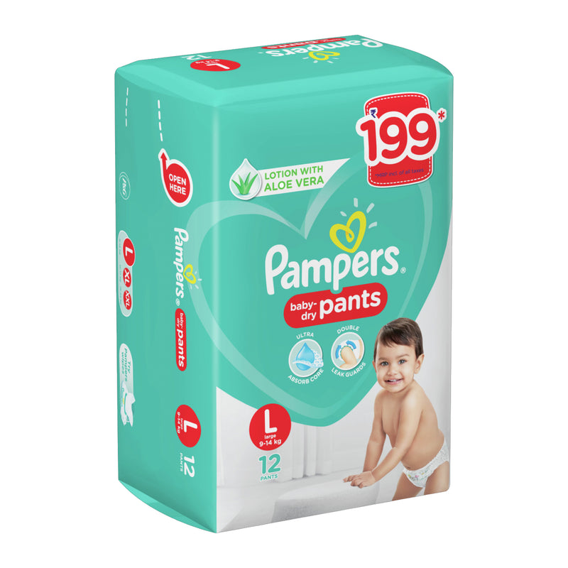Pampers New Diaper Pants, Large (Pack of 12)