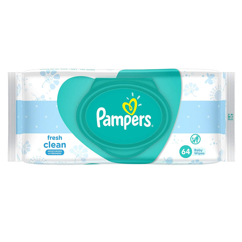 Pampers Fresh Clean Baby Wipes (64 Pieces)