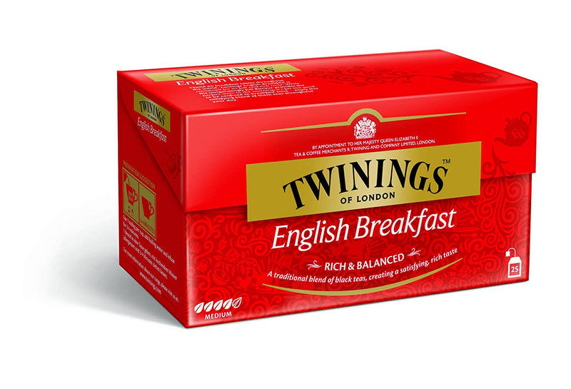 Twinings of London English Classic's ( English Breakfast Tea ) , 50g (25 Tea Bags)