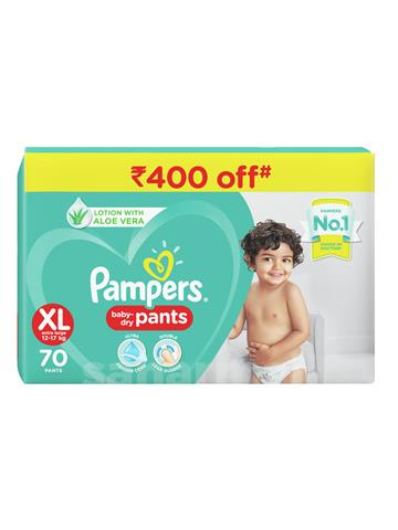 Pampers Baby Dry Pants (XL Extra Large 12-17 Kg) 70 Pants