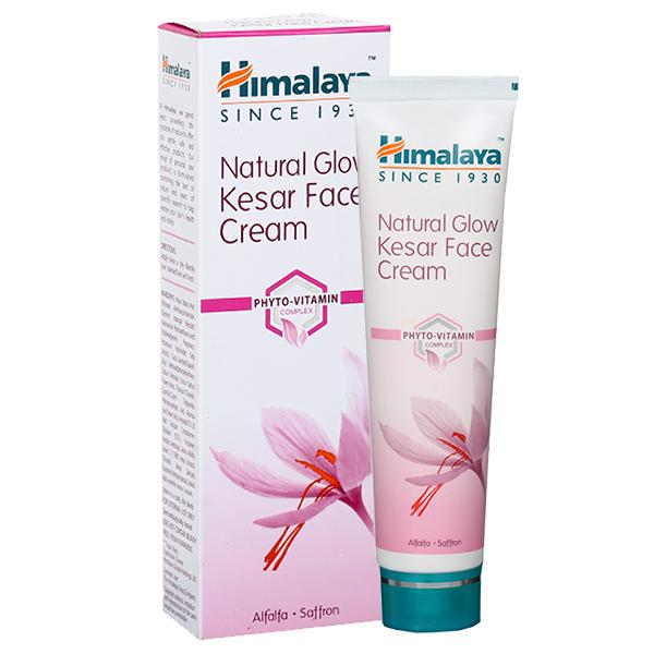 Himalaya Natural Glow Kesar (Alfalfa & Saffron) Face Cream, 50g X 2 + Save Rs. 50/-