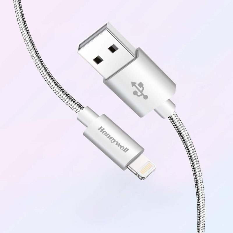 Honeywell Apple Lightning Sync and Charge Cable - 1 M -Silver HC000018/CBL/1M/SLV/B