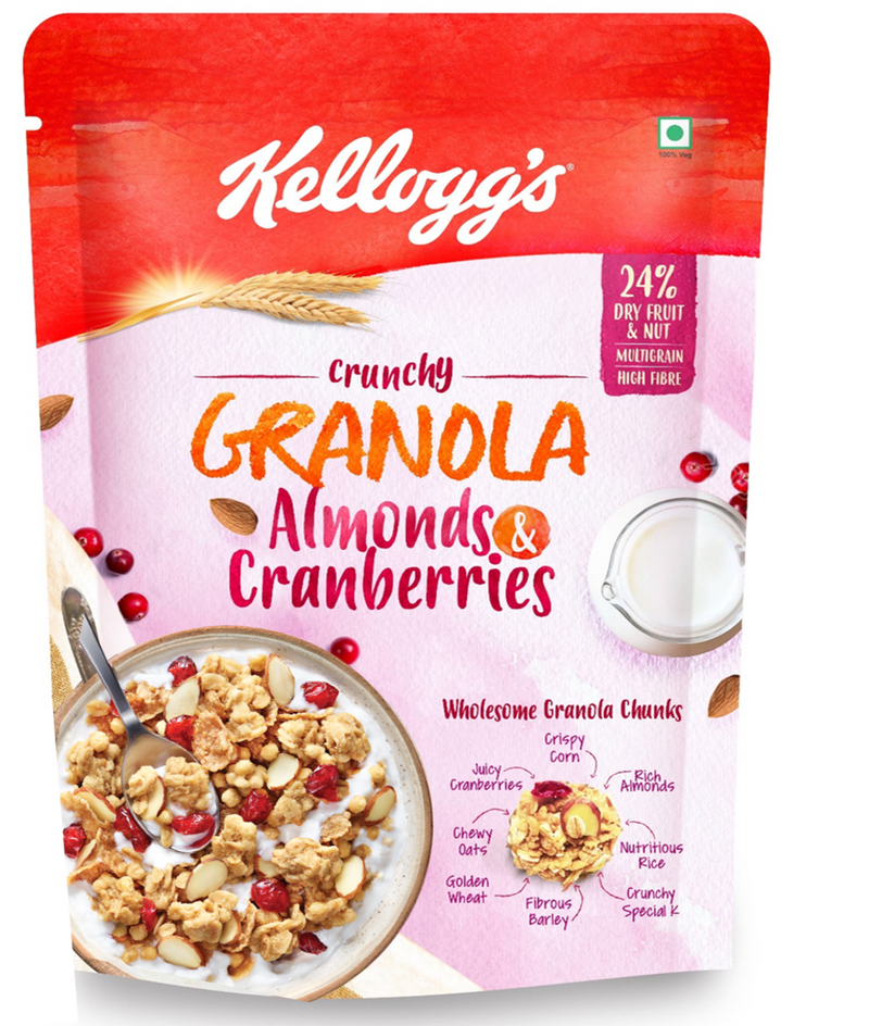 Kellogg's Granola Almonds & Cranberries, 150g