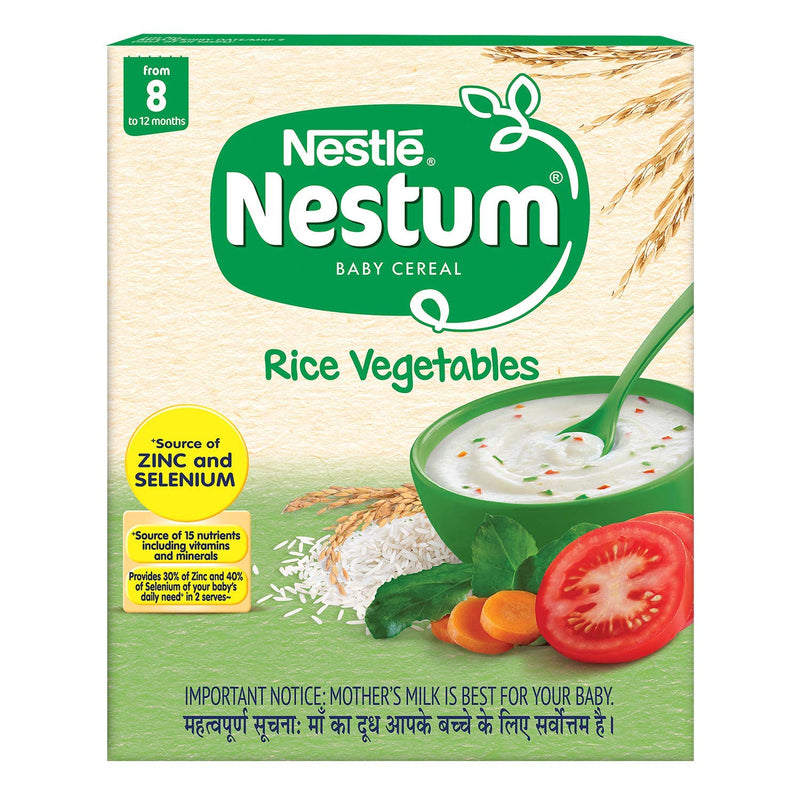 Nestle Nestum Baby Cereal - Rice Vegetables - From 08 to 12 months, 300g