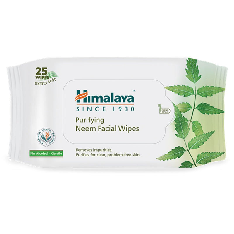 Himalaya Purifying Neem Facial Wipes, 25 Wipes