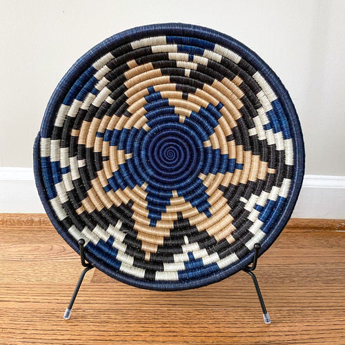 Shades of Blue with Dark Star Rwandan Basket