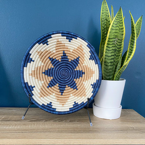 Shades of Blue with Light Star Rwandan Basket