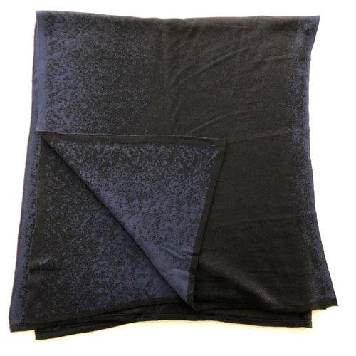 Reversible Shawl (Dark Blue/Black)