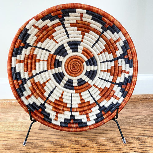 Orange and Black Star Rwandan Basket