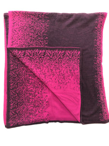 Reversible Shawl (Magenta/Plum)