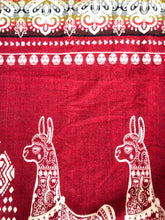 Load image into Gallery viewer, Qata Reversible Alpaca Blanket (Red Alpaca Print)