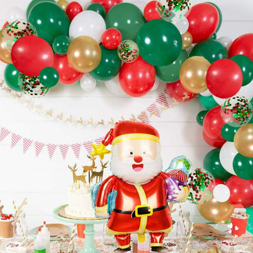 Red and Green Christmas Balloons