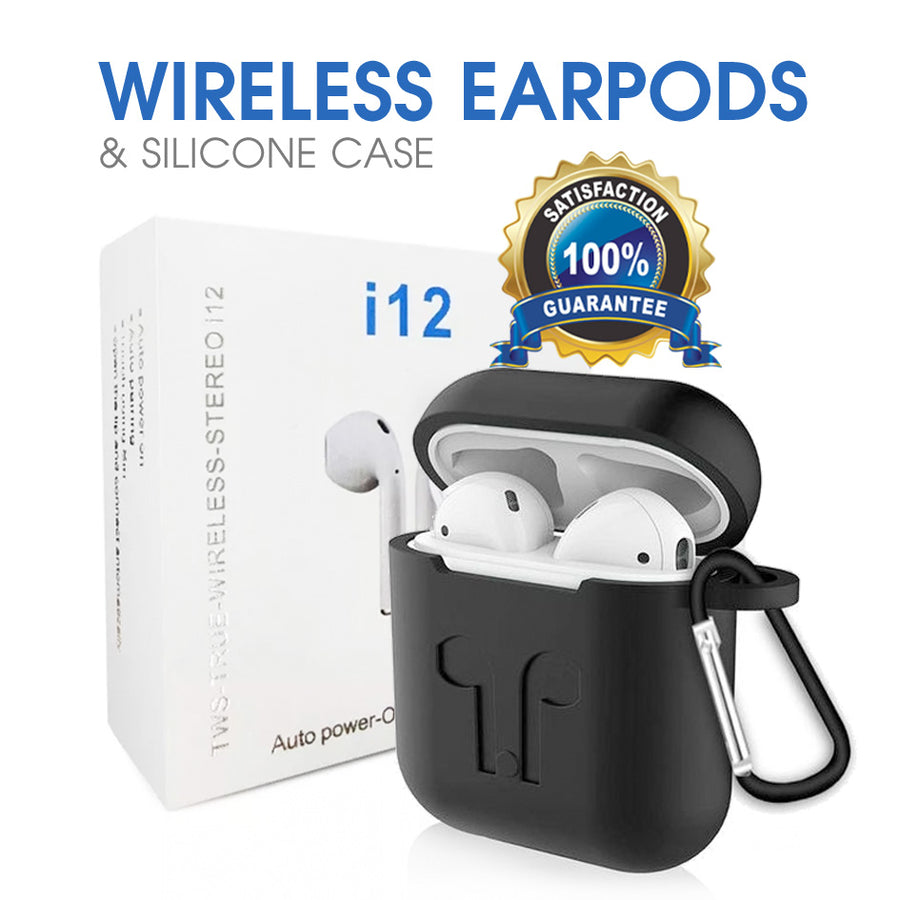TWS True-Wireless-Stereo i12 | Bluetooth Wireless Earphones | BT 5.0 Quick Connect | Android & iOS Compatible