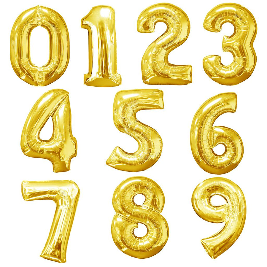 Gold Foil Numbers