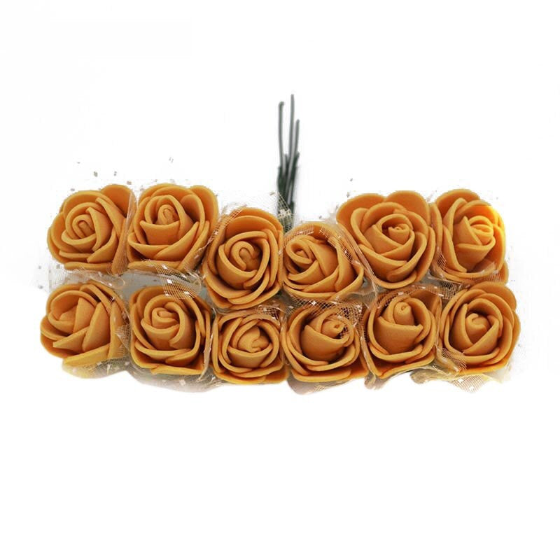 Gold 144  2.5 cm Foam Flowers