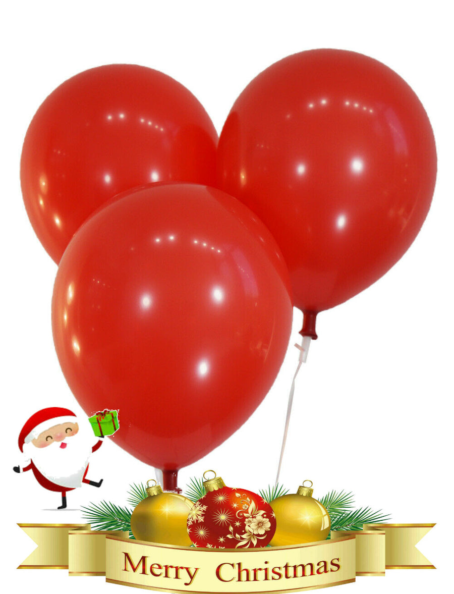 Plain Red Christmas Balloons